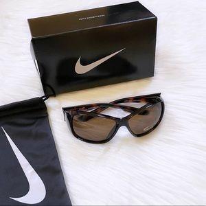 Nike Minx 59mm Tortoise Wrap Unisex Sunglasses